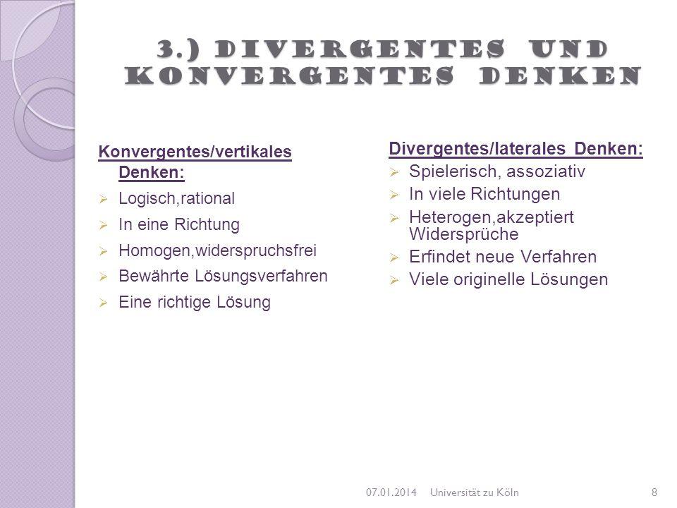 3.) Divergentes und konvergentes Denken