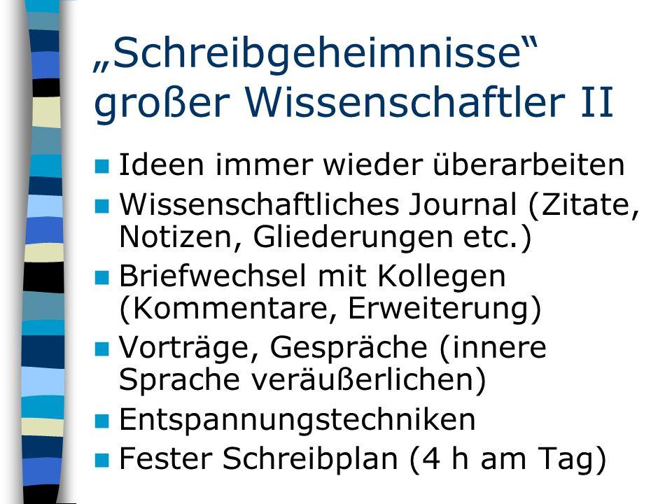 """""""Schreibgeheimnisse großer Wissenschaftler II"""