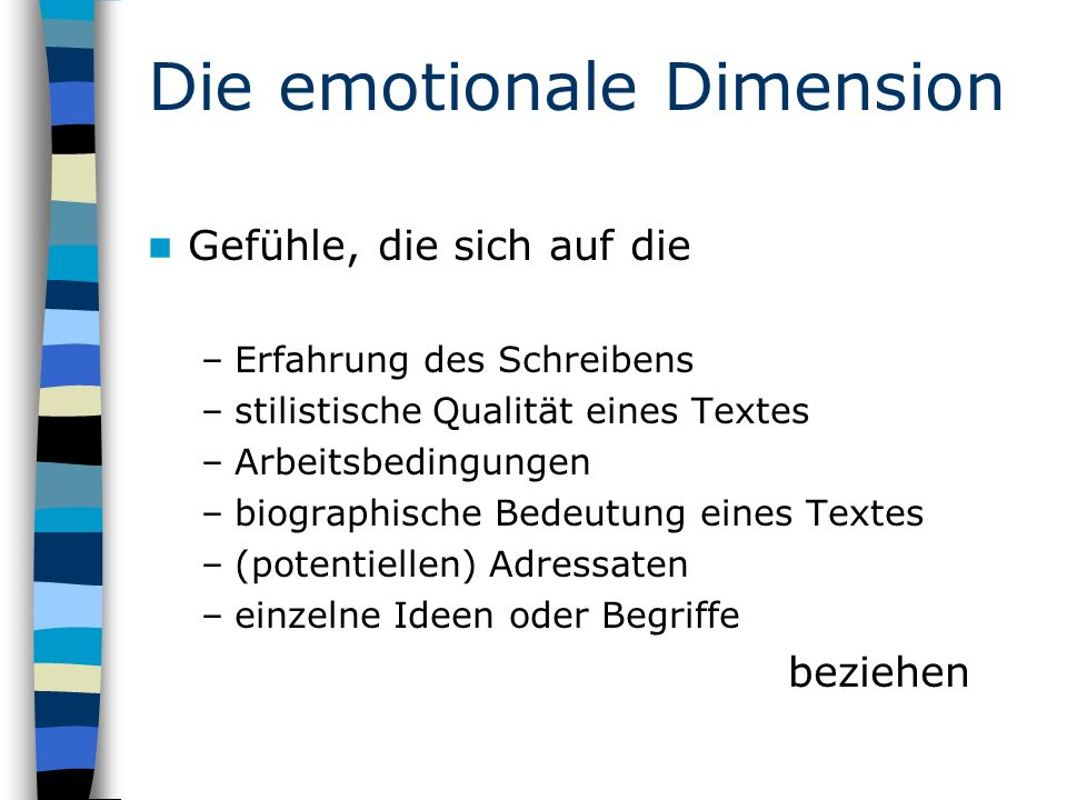 Die emotionale Dimension