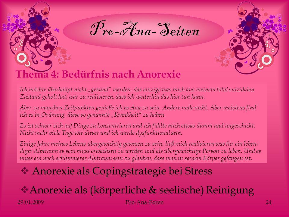 Thema 4: Bedürfnis nach Anorexie