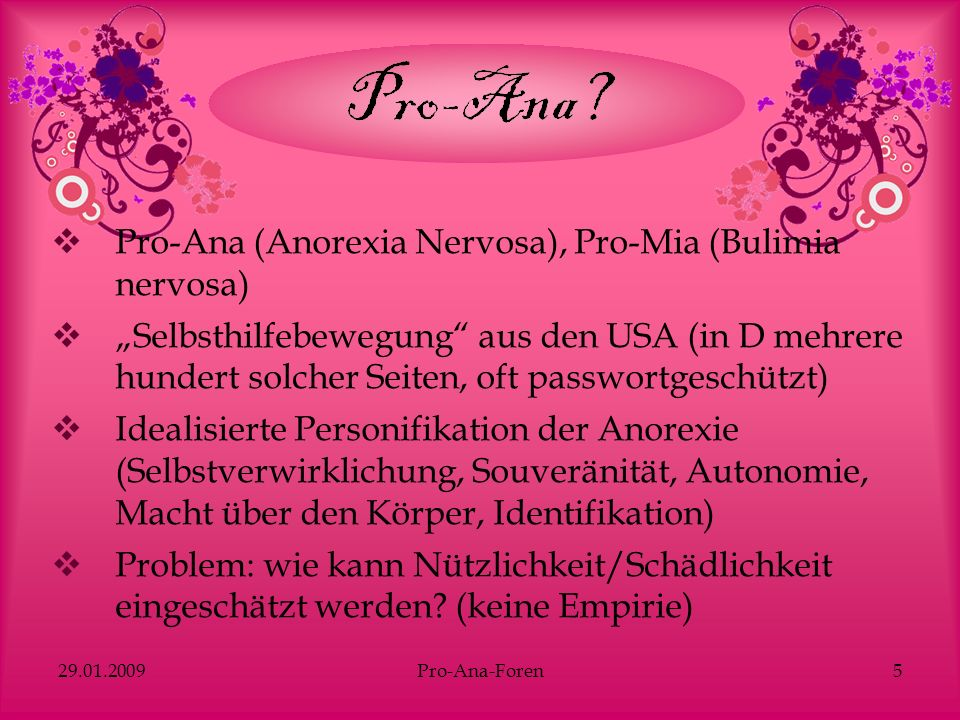 Pro-Ana (Anorexia Nervosa), Pro-Mia (Bulimia nervosa)