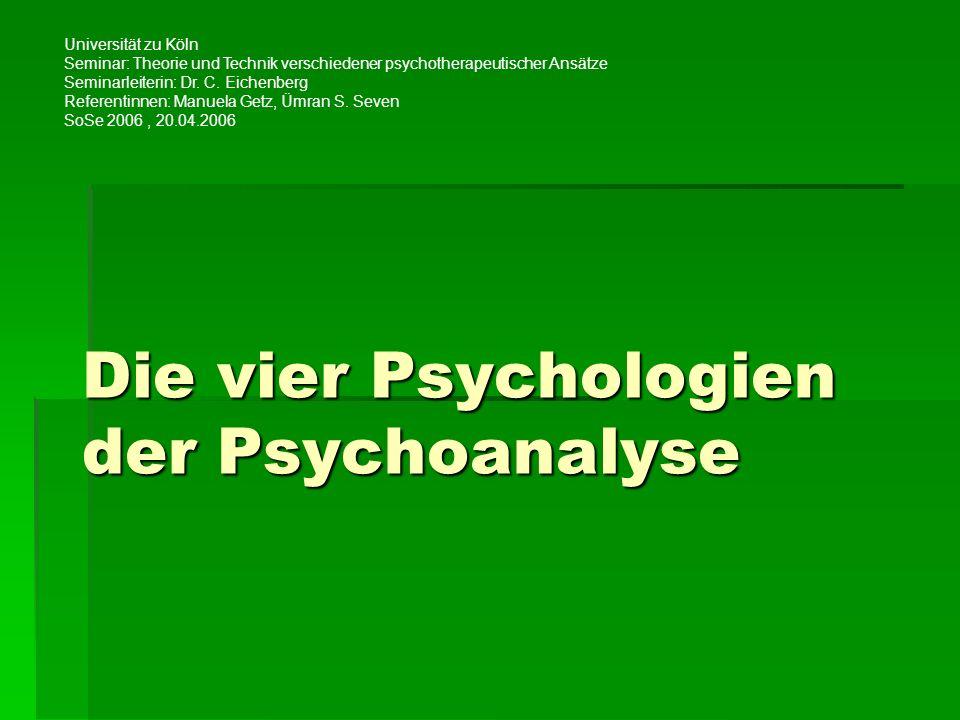 Die vier Psychologien der Psychoanalyse
