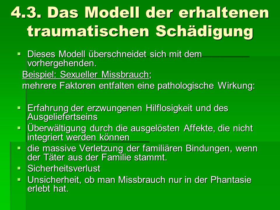 4.3. Das Modell der erhaltenen traumatischen Schädigung
