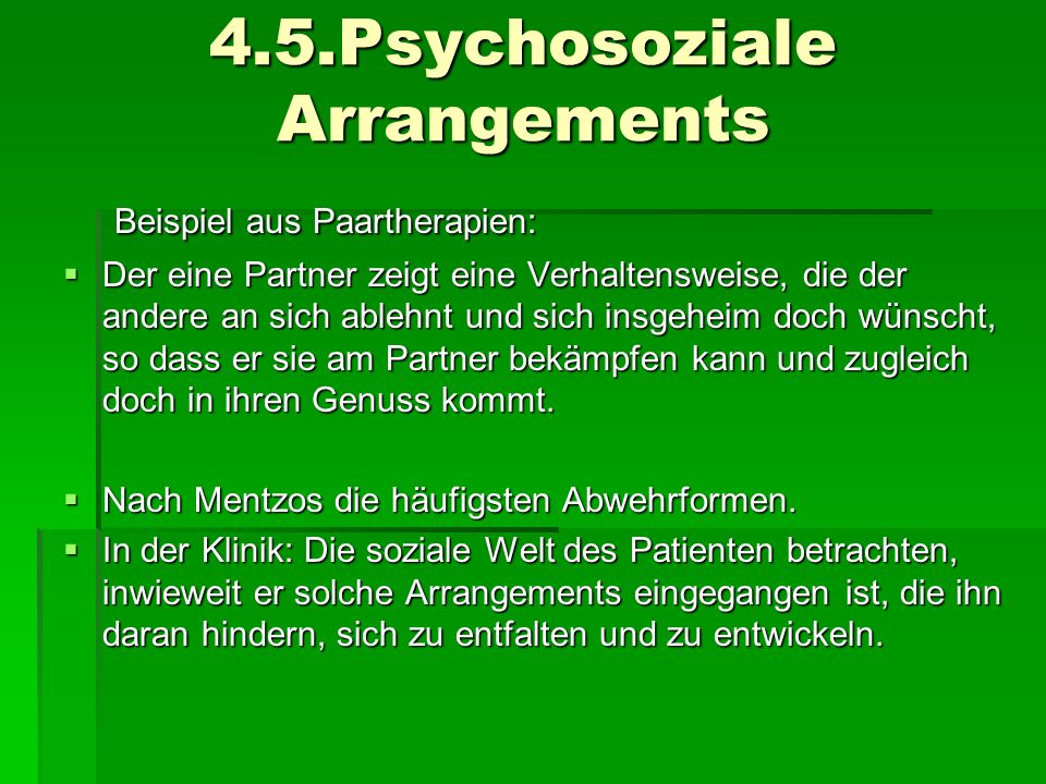 4.5.Psychosoziale Arrangements