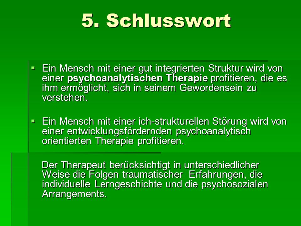 5. Schlusswort