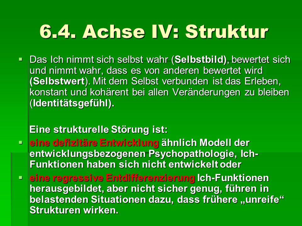 6.4. Achse IV: Struktur