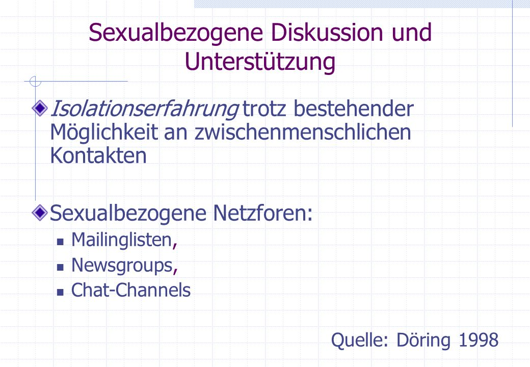 Sexualbezogene Diskussion und Unterstützung