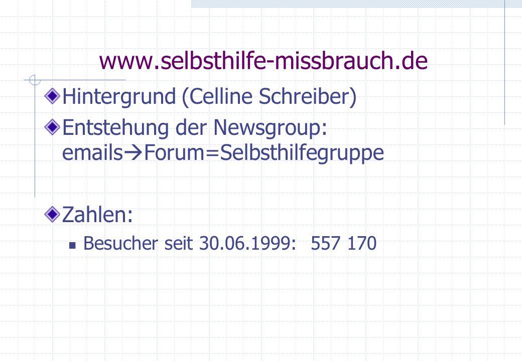 www.selbsthilfe-missbrauch.de Hintergrund (Celline Schreiber)