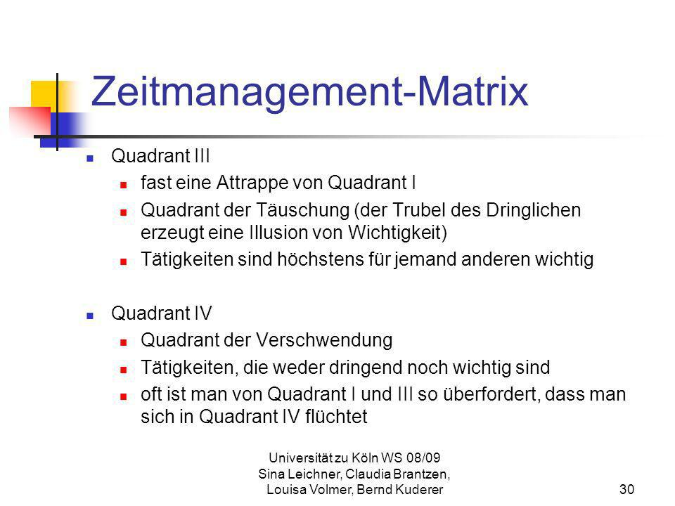 Zeitmanagement-Matrix