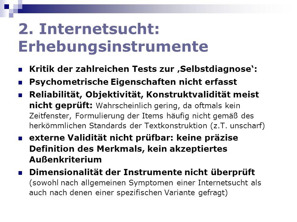 2. Internetsucht: Erhebungsinstrumente