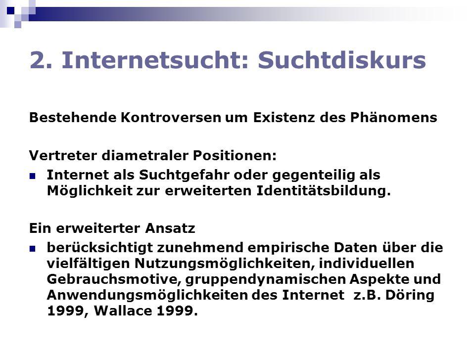 2. Internetsucht: Suchtdiskurs