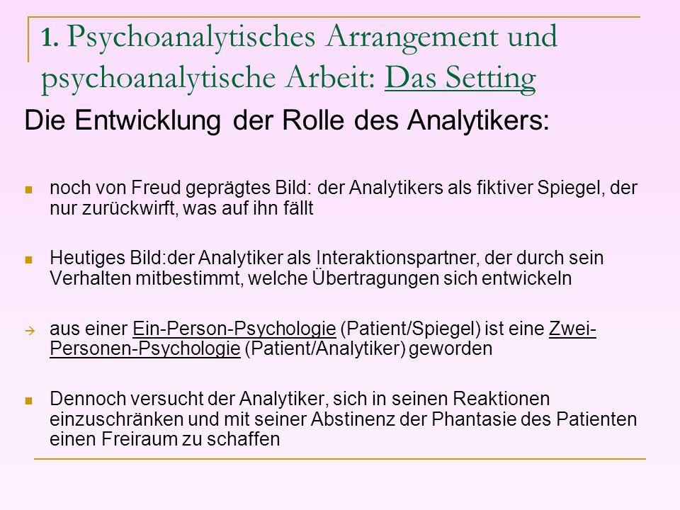 Die Entwicklung der Rolle des Analytikers: