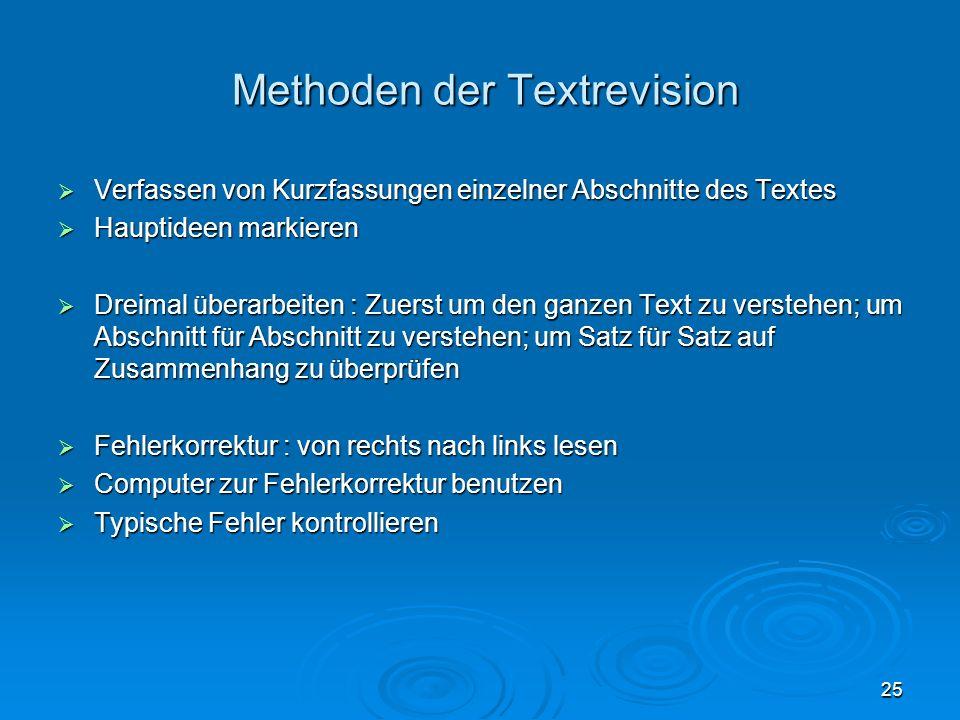 Methoden der Textrevision