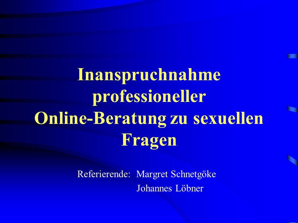 Inanspruchnahme professioneller Online-Beratung zu sexuellen Fragen