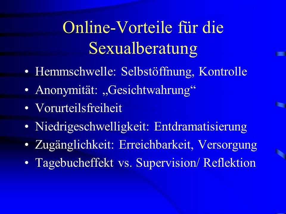 Online-Vorteile für die Sexualberatung