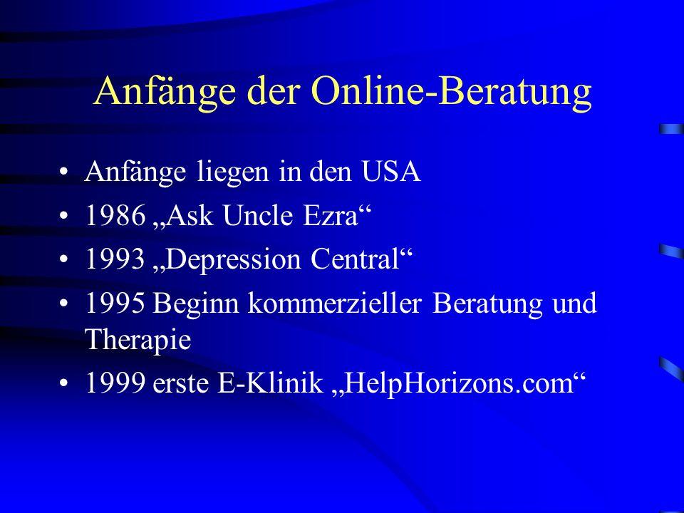 Anfänge der Online-Beratung