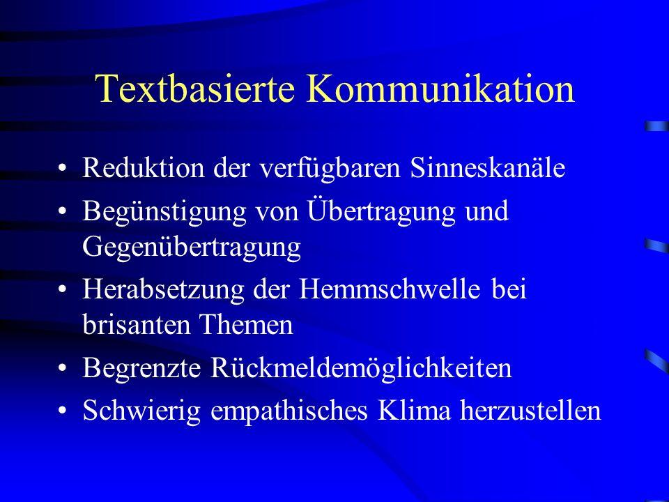 Textbasierte Kommunikation