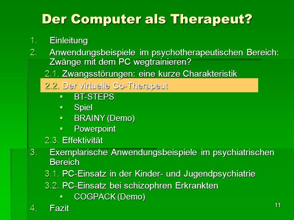 Der Computer als Therapeut