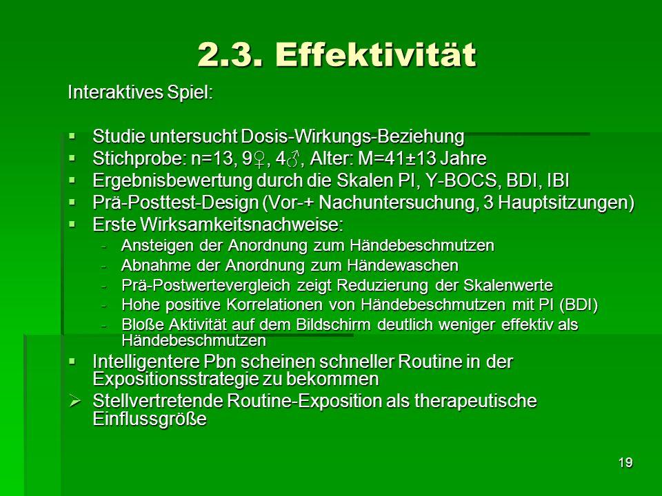 2.3. Effektivität Interaktives Spiel: