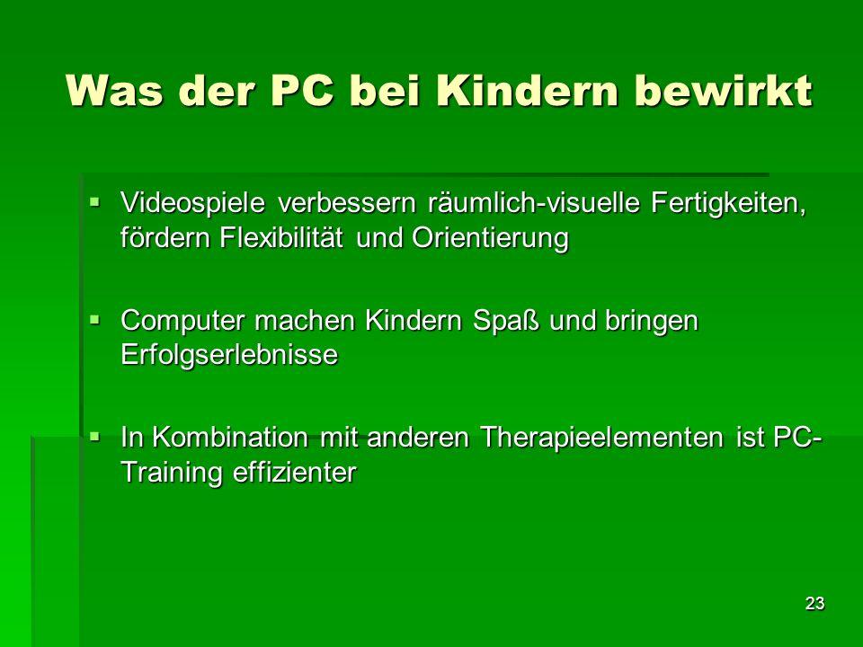 Was der PC bei Kindern bewirkt