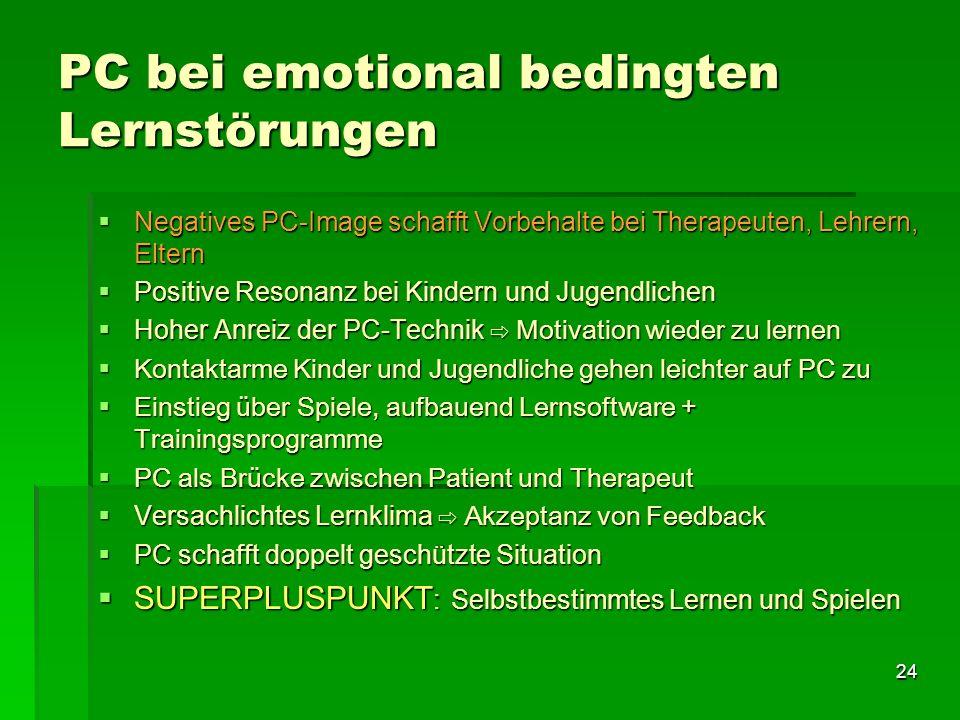PC bei emotional bedingten Lernstörungen