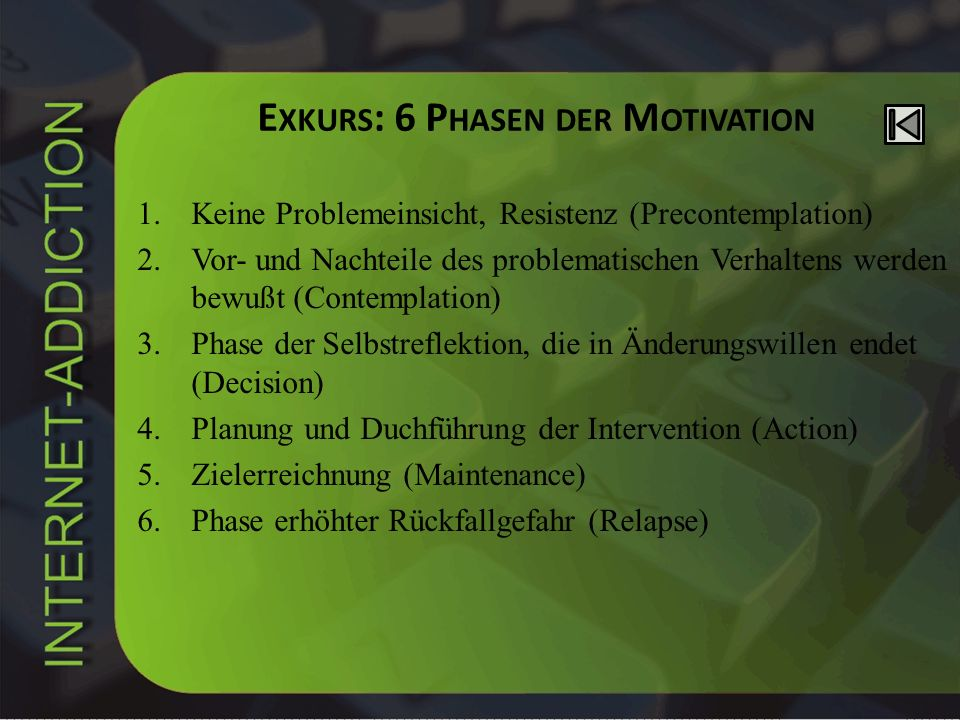 Exkurs: 6 Phasen der Motivation