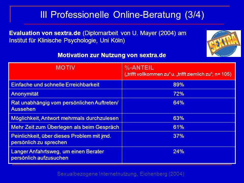 III Professionelle Online-Beratung (3/4)