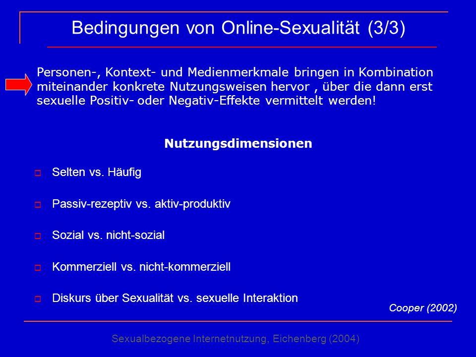 Bedingungen von Online-Sexualität (3/3)
