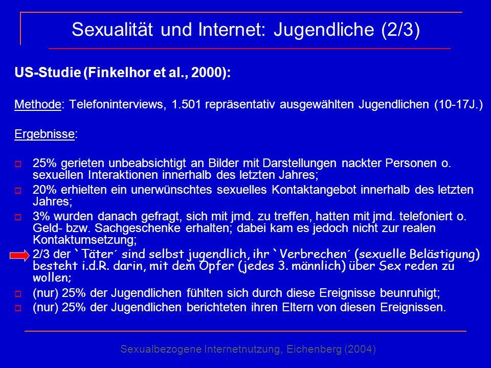 Sexualität und Internet: Jugendliche (2/3)
