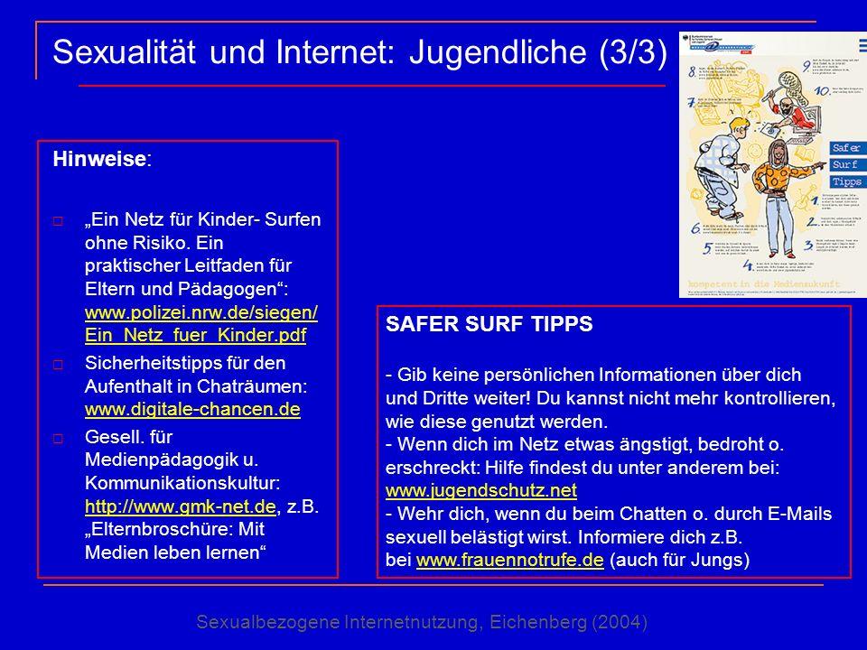 Sexualität und Internet: Jugendliche (3/3)