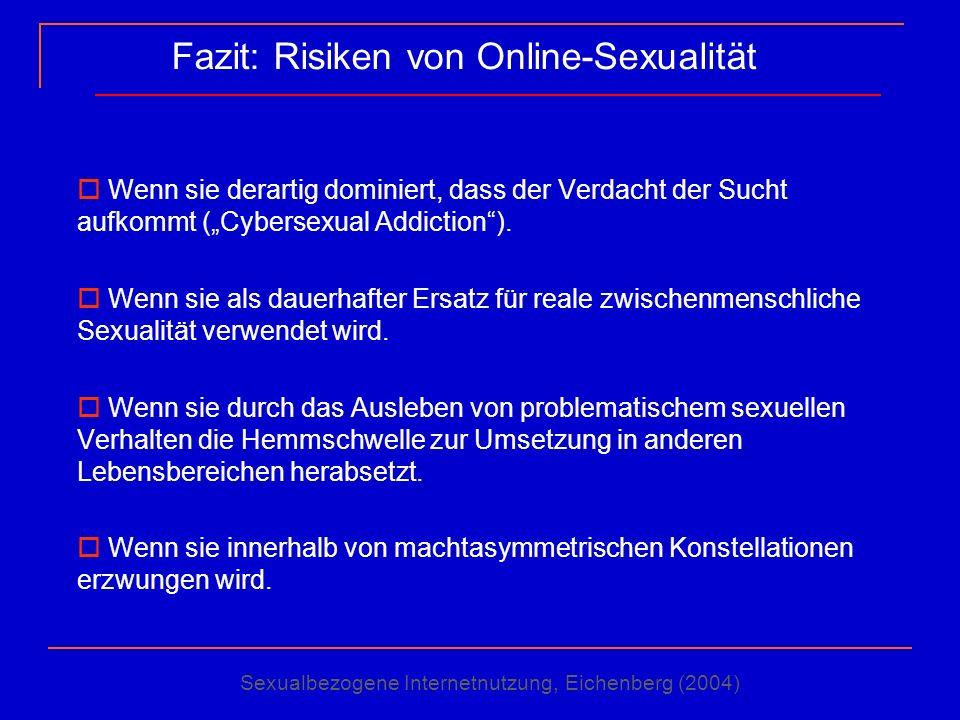 Fazit: Risiken von Online-Sexualität