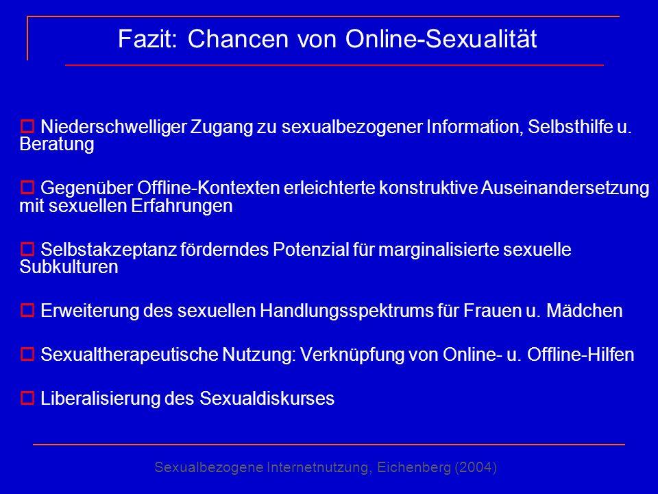 Fazit: Chancen von Online-Sexualität