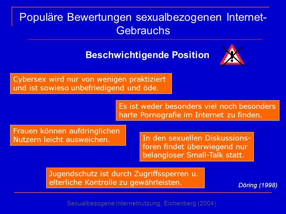 Populäre Bewertungen sexualbezogenen Internet-Gebrauchs