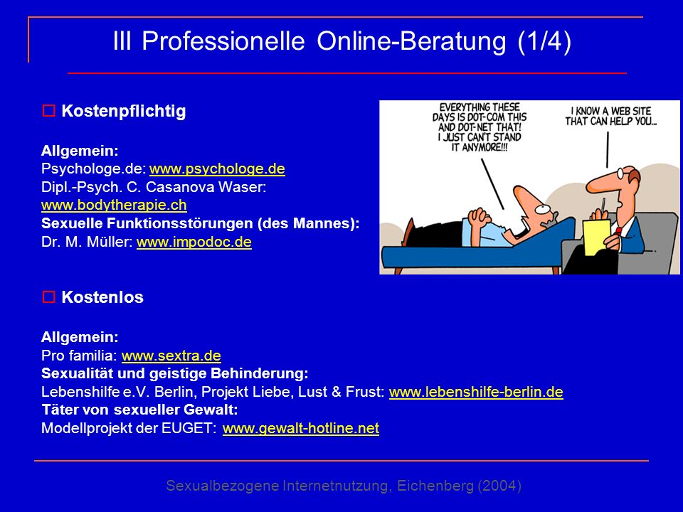 III Professionelle Online-Beratung (1/4)