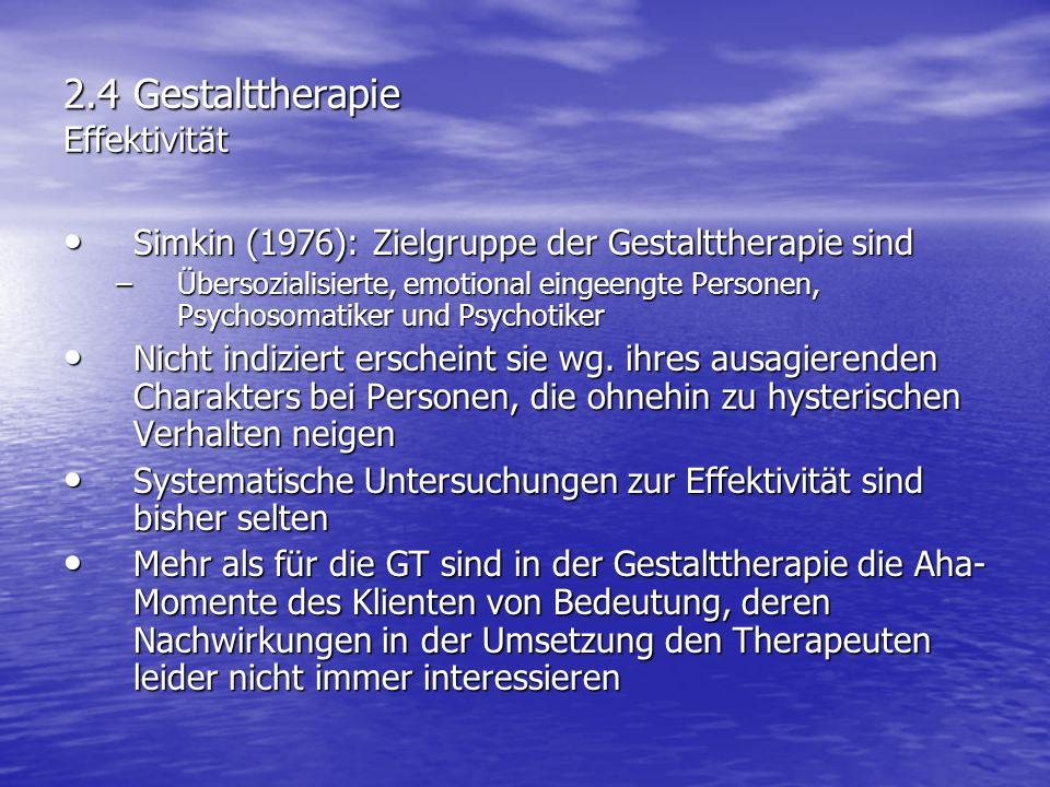 2.4 Gestalttherapie Effektivität