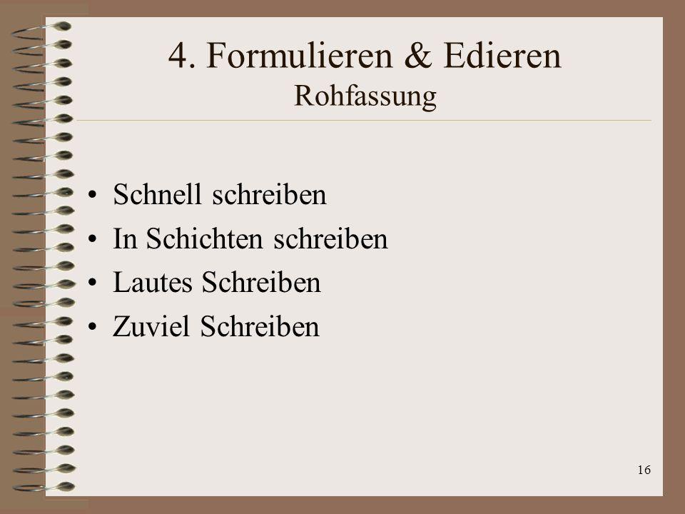 4. Formulieren & Edieren Rohfassung