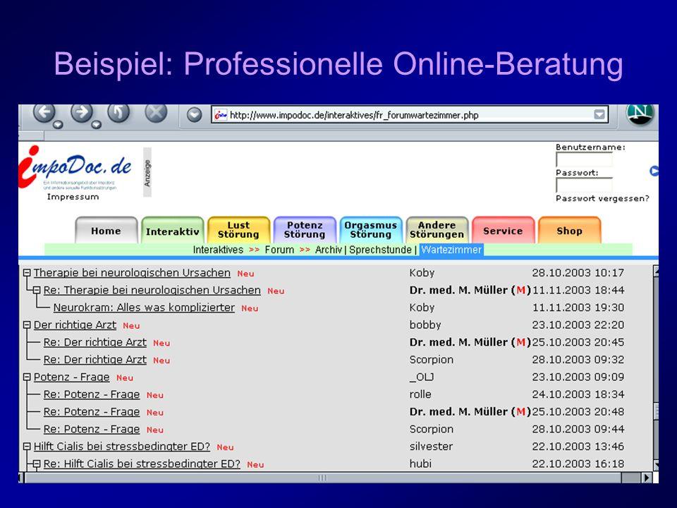 Beispiel: Professionelle Online-Beratung