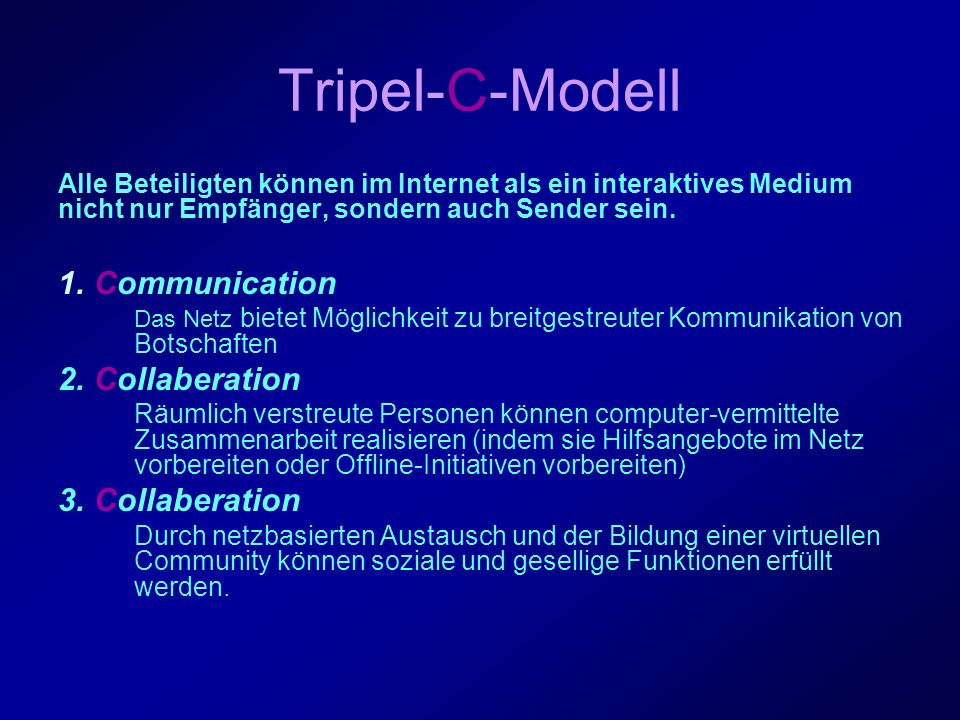 Tripel-C-Modell Communication Collaberation