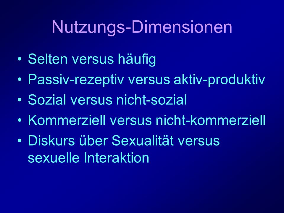 Nutzungs-Dimensionen