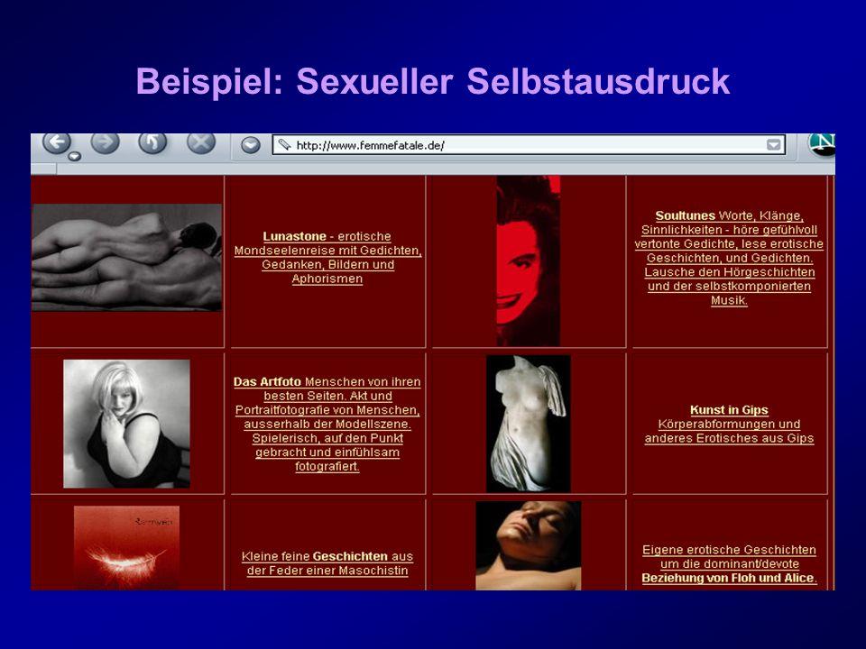 Beispiel: Sexueller Selbstausdruck