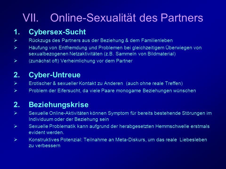 VII. Online-Sexualität des Partners