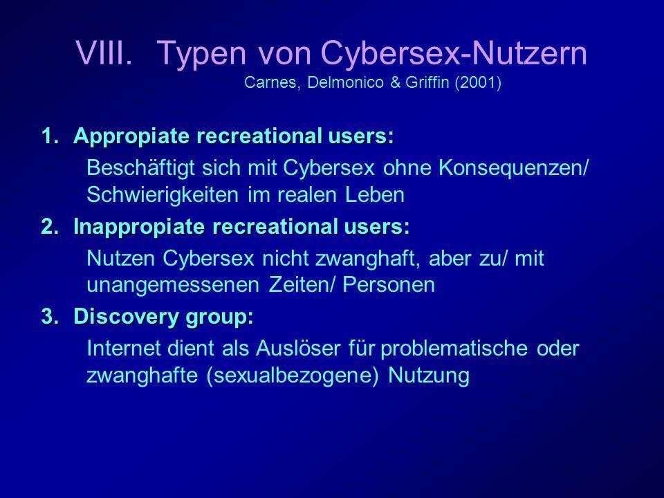 Typen von Cybersex-Nutzern Carnes, Delmonico & Griffin (2001)