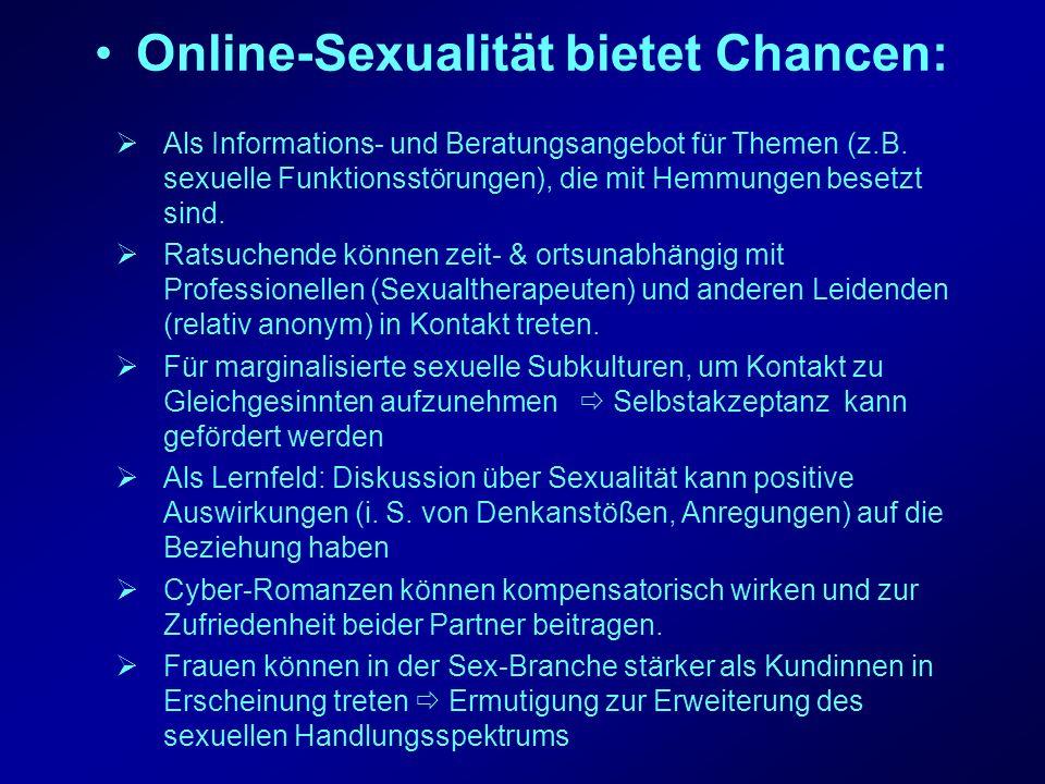 Online-Sexualität bietet Chancen: