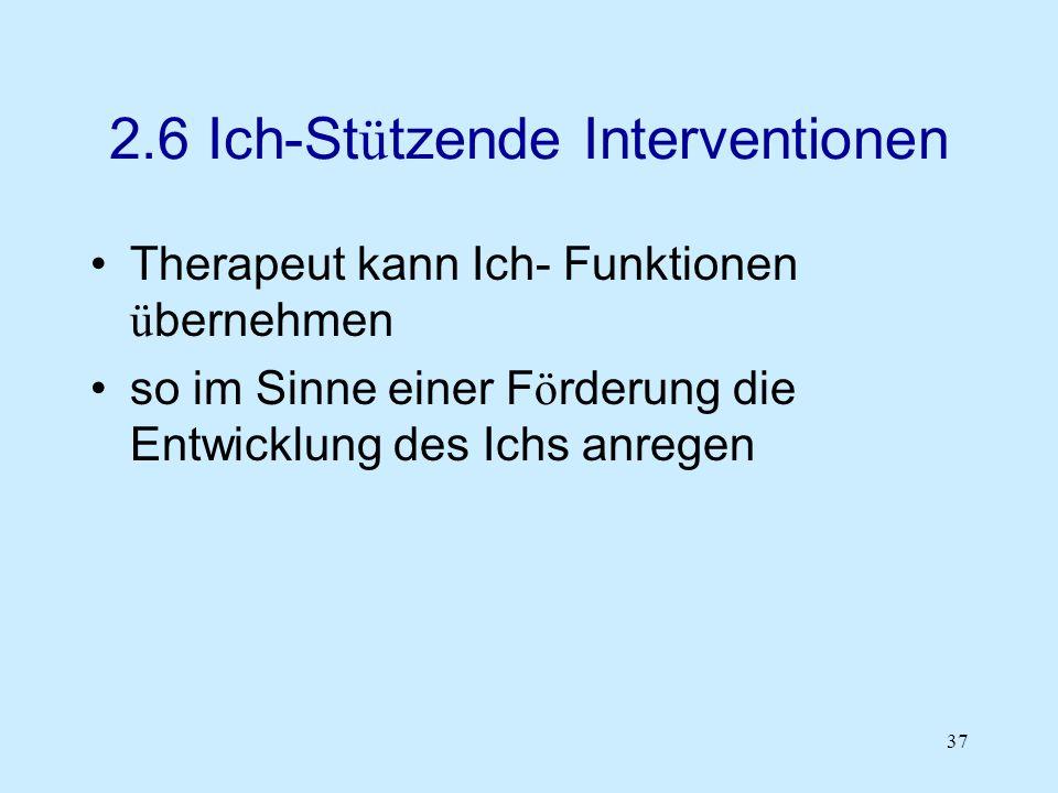 2.6 Ich-Stützende Interventionen