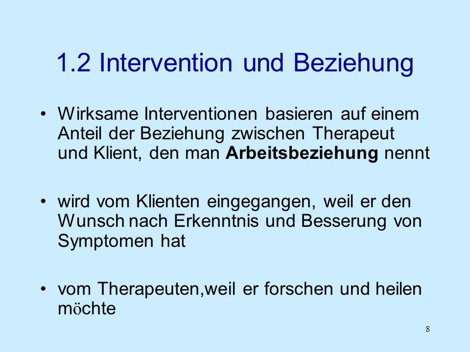 1.2 Intervention und Beziehung
