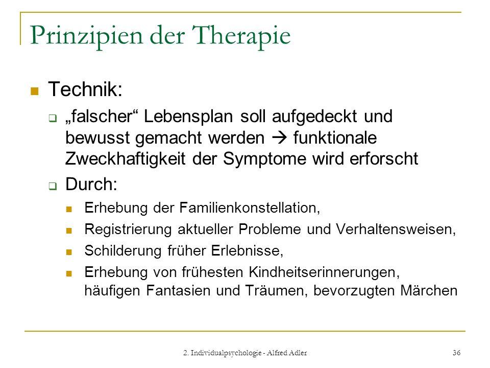 Prinzipien der Therapie