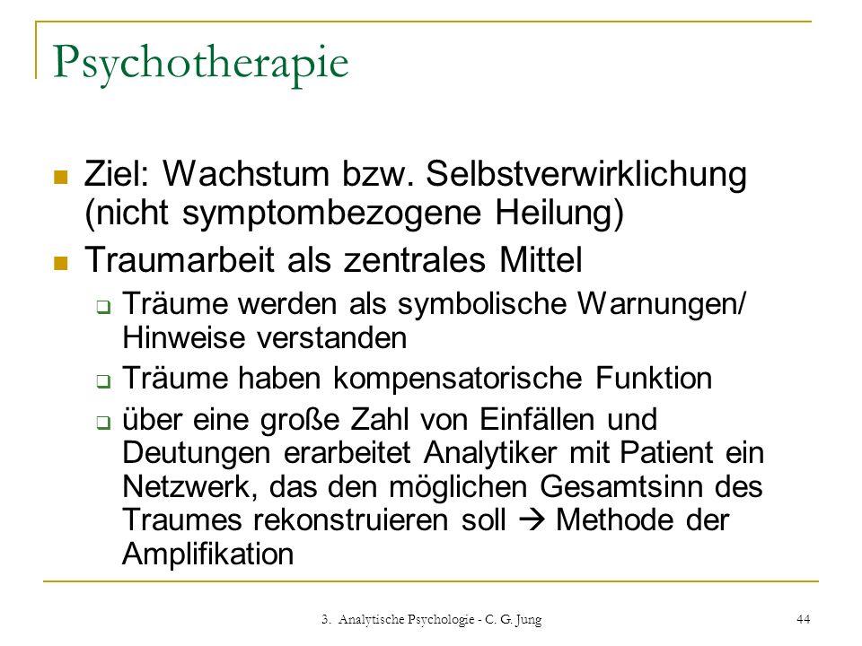 3. Analytische Psychologie - C. G. Jung