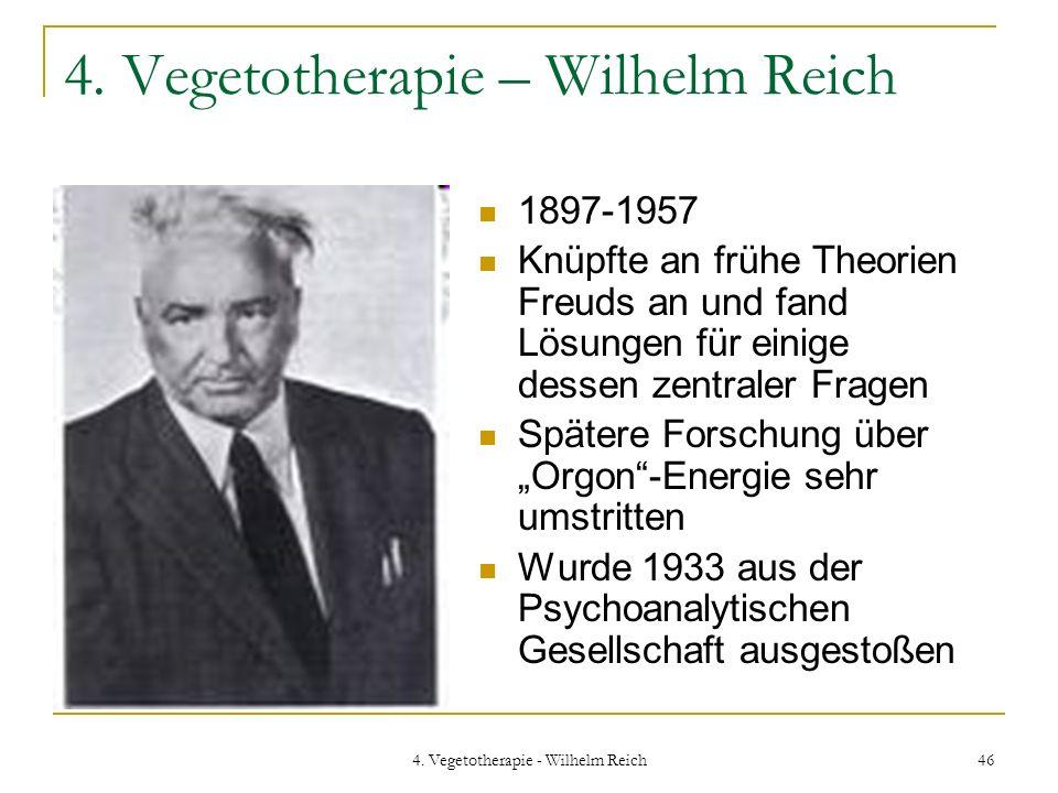 4. Vegetotherapie – Wilhelm Reich
