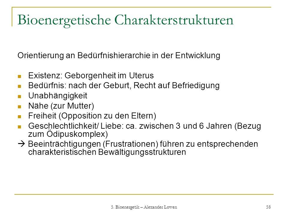 Bioenergetische Charakterstrukturen