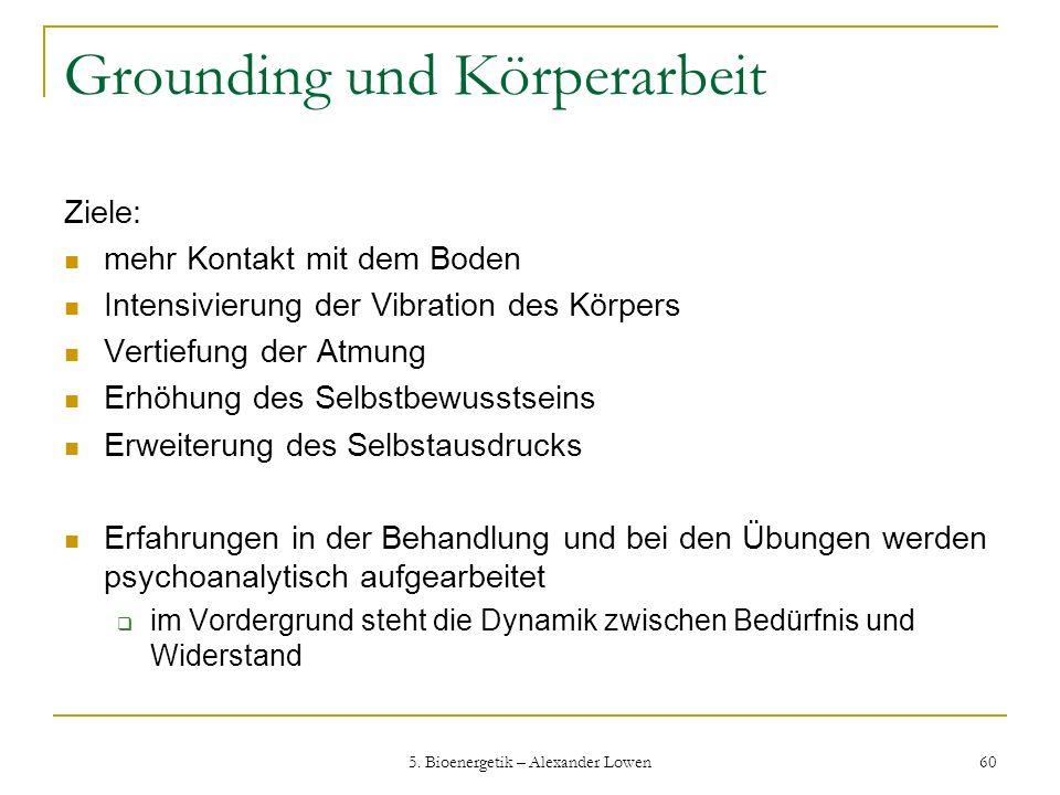 Grounding und Körperarbeit